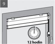 9. V paketu nechte Plisé nejméně 12 hodin schnout. Během sušení Plisé několikrát otevřete a zavřete. Nežehlete! Plisování je absolutně trvanlivé