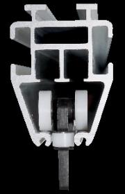 Pojezd TT1<br> v profilu kolejnice svislé vodicí kladky zabezpečují tichý a lehký chod - i při kroucení a v zatáčkách.