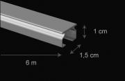 Záclonová tyč Adron - rozměry