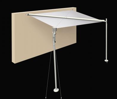 <h4>SLUNEČNÍ PLACHTA S3</h4>   <p>Motorizovaný systém stínící plachty se skládá z 2 opěrných sloupků (nabarvený hliník, dřevěné lamely), kotvy, která se připevňuje na zeď. A  Vámi  zvolené látky (Dacron, Suncontrol, Tempotest Star, Tempotest Star Light) narolované na úhlopříčné trubce a napínané ocelovými lanky. Garantována je resistance vůči větru Class 3 podle UNI EN 13561.  </p>