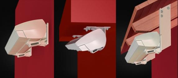 <br>Z leva: a) Montáž do stěny b)  Montáž do stropu c)   Montáž na střešní krovy