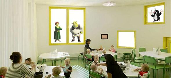 ukázka potisku dětských rolet